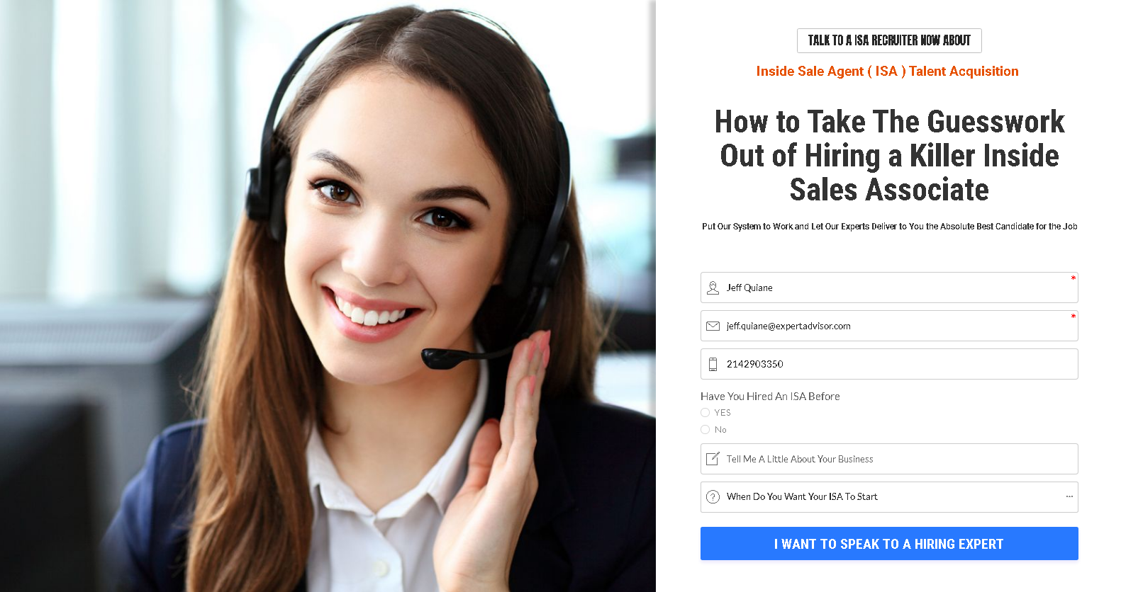 Hire My Inside Sales Agent
