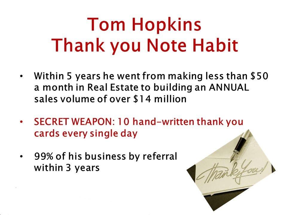 Tom+Hopkins+Thank+you+Note+Habit