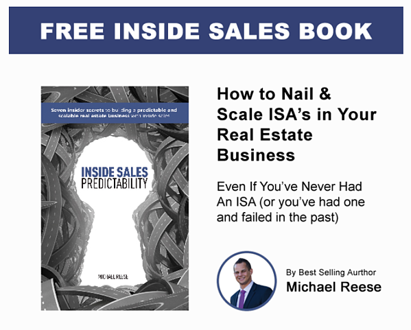 Inside Sales Agent ( ISA ), Real Estate, Lead Generation